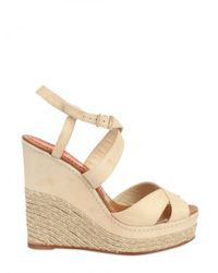Paloma Barceló | Natural 120mm Criss Cross Espadrille Wedges | Lyst