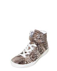 Pierre Hardy | Brown Water Snake Sneakers for Men | Lyst