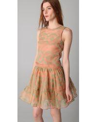 RED Valentino | Multicolor Flocked Rosette Sleeveless Dress | Lyst