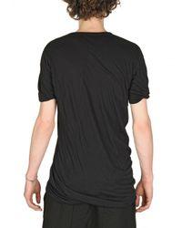 Rick Owens - Black Doubled Unstable Cotton Jersey T-shirt for Men - Lyst