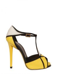 Roger Vivier | Yellow 120mm Prismick Leather & Suede Sandals | Lyst