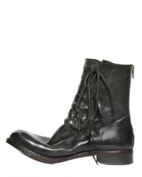 Silvano Sassetti - Black Concealed Strings Horseleather Boots for Men - Lyst