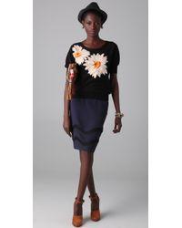 Sonia Rykiel | Black Floral Knit Pullover | Lyst
