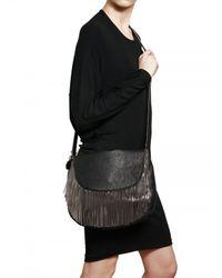 Stella McCartney - Black Cambride Faux Leather Boldy Shoulder Bag - Lyst