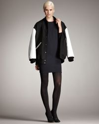 Stella McCartney | Black Varsity Jacket | Lyst
