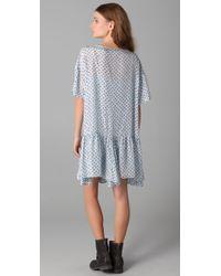 Textile Elizabeth and James - Blue Kensington Dress - Lyst