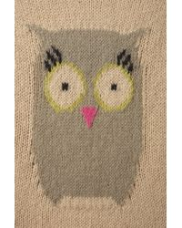 TOPSHOP - Natural Knitted Owl Motif Jumper - Lyst