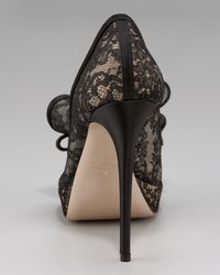 Valentino | Black Couture Lace Platform Pump | Lyst