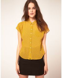 Whistles - Yellow Patsy Spot Top - Lyst