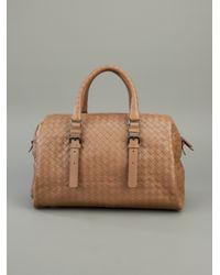 Bottega Veneta   Brown Weaved Leather Tote   Lyst