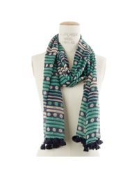 Madewell | Green Spots and Stripes Scarf | Lyst