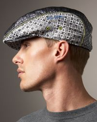 Robert Graham - Gray Garcelle Printed Cap for Men - Lyst