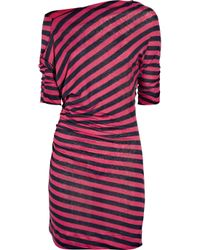Vivienne Westwood Anglomania | Pink New Ariana Striped Stretch-linen Dress | Lyst