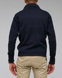 S.N.S Herning - Blue Fisherman Zip for Men - Lyst