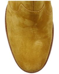 A.P.C.   Yellow Suede Ankle Boots   Lyst