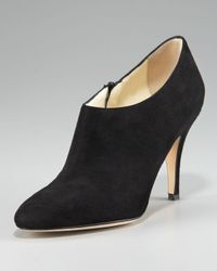 Bettye Muller | Black Suede Ankle Bootie | Lyst