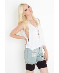 Nasty Gal | Blue Thrasher Cutoff Shorts | Lyst