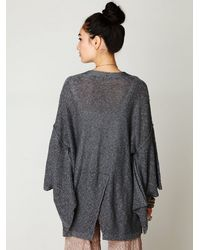 Free People | Gray Kimono Solid Sweater | Lyst