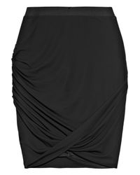 Helmut Lang | Black Twisted Stretch-crepe Pencil Skirt | Lyst