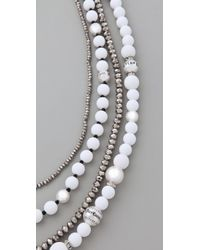 Juicy Couture - Multicolor Pearl & Resin Multi Strand Necklace - Lyst