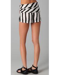 Sass & Bide - Black Two Futures Striped Shorts - Lyst