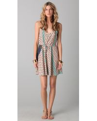 Twelfth Street Cynthia Vincent | Multicolor Print Racer Back Flounce Dress | Lyst