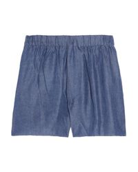 Acne Studios | Blue Bacall Denim-effect Shorts | Lyst