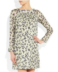 A.P.C. | Multicolor Leopard-print Woven Silk Dress | Lyst