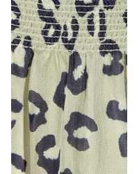 A.P.C.   Multicolor Leopard-print Woven Silk Dress   Lyst