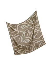 Ballantyne | Natural Signature Silk Square Scarf | Lyst