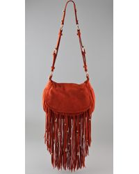 CC SKYE | Orange Leight Luxe Fringe Bag | Lyst