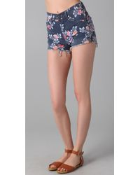 Citizens of Humanity | Blue Chloe High Waist Cutoff Shorts | Lyst