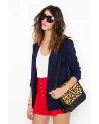 Nasty Gal   Red Button Up Tap Shorts   Lyst