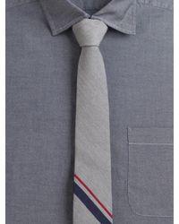 Rag & Bone - Gray Signature Striped Tie for Men - Lyst