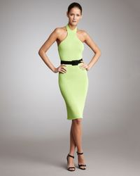 Ralph Lauren | Yellow Knit Halter Dress | Lyst