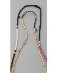 Shashi | Pink Zen Golden Nugget Necklace | Lyst