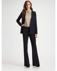 Theory - Blue Hydric Medora Collarless Wool-blend Blazer - Lyst