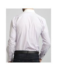 Tom Ford - Purple Lilac Striped Solid Point Collar Dress Shirt for Men - Lyst
