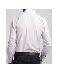 Tom Ford | Purple Lilac Striped Solid Point Collar Dress Shirt for Men | Lyst