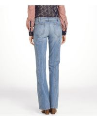 Tory Burch | Blue Leigh Flare Jean | Lyst
