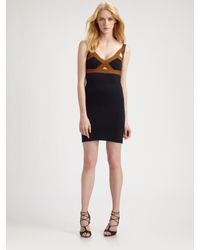 VPL | Blue Insertion Dress | Lyst