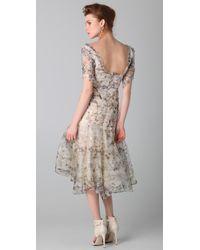 Zac Posen - Natural Print Bustier Dress - Lyst