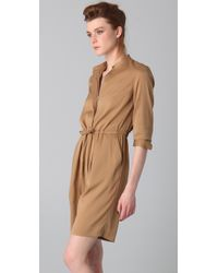 3.1 Phillip Lim | Natural Knee Length Romper with Drawstring Waist | Lyst