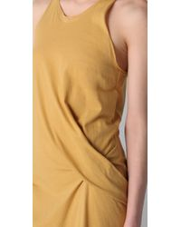 3.1 Phillip Lim - Yellow Side Twist Dress - Lyst