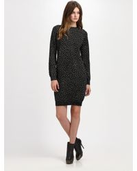 A.P.C. - Black Dotted Shift Dress - Lyst