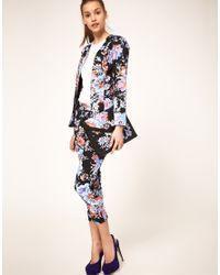 ASOS Collection - Multicolor Asos Petite Floral Print Blazer - Lyst