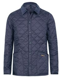 Barbour | Blue Heritage Fit Liddesdale Jacket for Men | Lyst