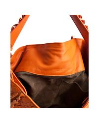Bottega Veneta - Orange Fire Opal Intrecciato Leather Frayed Shoulder Bag - Lyst