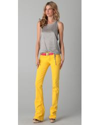DSquared² - Yellow Boot Cut Jeans - Lyst