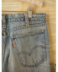 Free People | Blue Vintage Levis Patched Jeans | Lyst